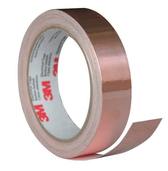 3M™ Copper EMI Shielding Tape 1181, 38 mm x 16,5 m, 6 Rolls/Case