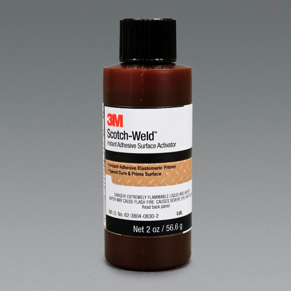 3M™ Scotch-Weld™ Instant Adhesive Surface Activator, Light Amber, 2 fl oz Bottle, 6/case