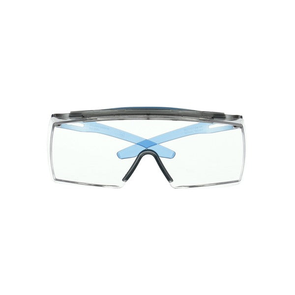 3M™ SecureFit™ 3700 Series, SF3701XSGAF-BLU, Alternate Fit, Blue, Browguard, Scotchgard™ Anti-Fog, Clear OTG AF-AS lens 10/cs