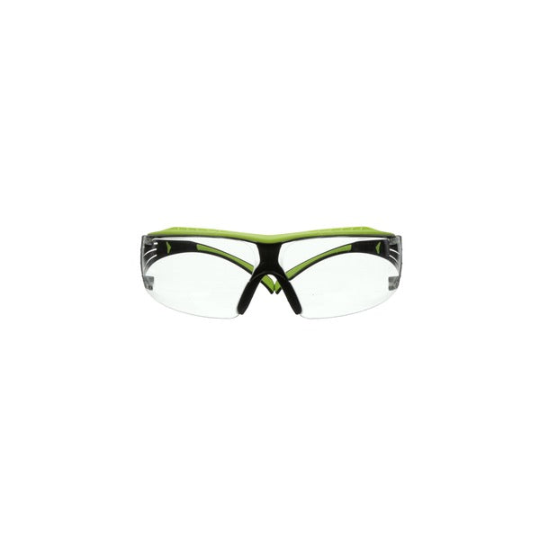 3M™ SecureFit™ 400 Series Safety Glasses SF401XAF-GRN, Green/Black, Clear Anti-Fog/Anti-Scratch Lens, 20 EA/Case
