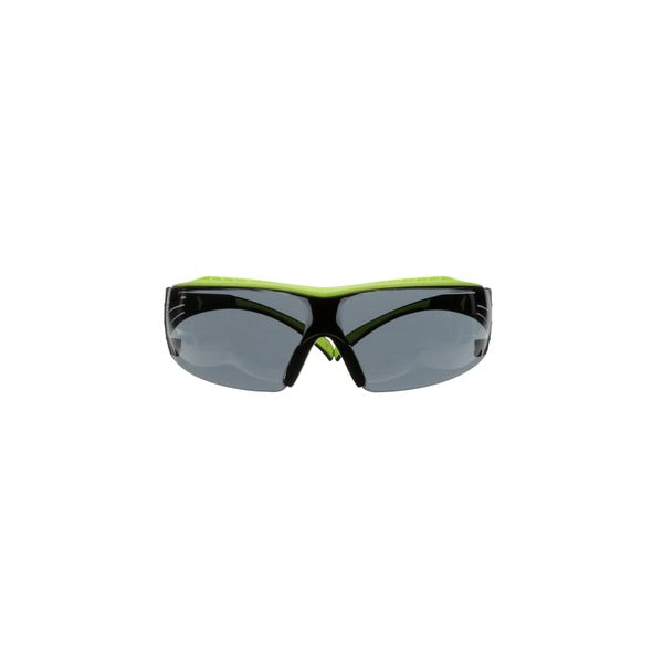 3M™ SecureFit™ 400 Series Safety Glasses SF402XAF-GRN, Green/Black, Gray Anti-Fog/Anti-Scratch Lens, 20 EA/Case