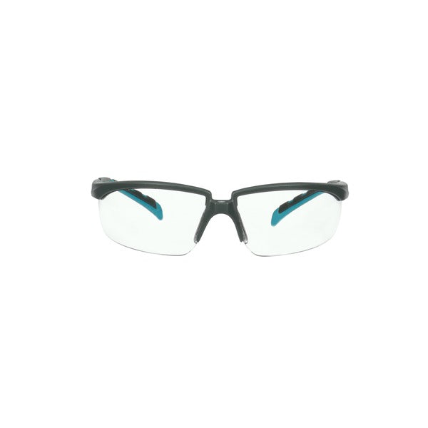 3M™ Solus™ 2000 Series, S2001SGAF-BGR, Gray/Blue-Green Temples, Scotchgard™ Anti-Fog Coating, Clear AF-AS lens, 20ea/cs