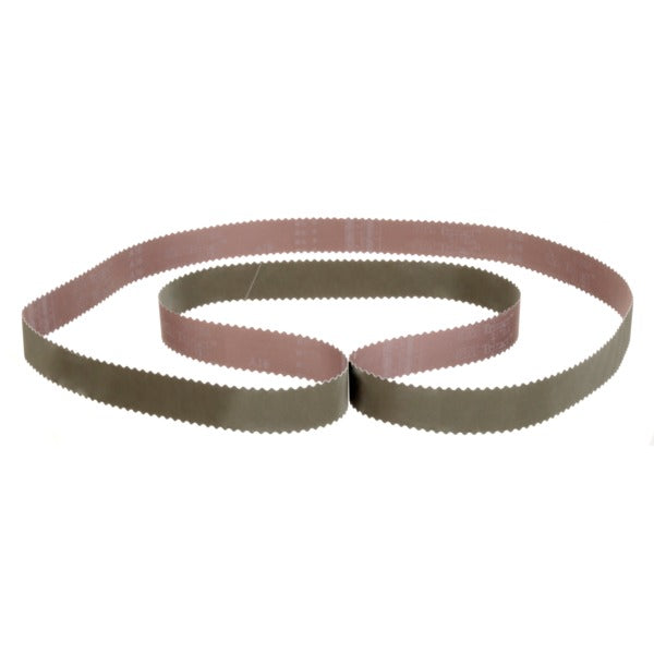 3M™ Trizact™ Cloth Belt 217EA, A16 JE-weight, 1-1/2 in x 77 in, Film-lok, Full-flex, Scallop A, 50 per case