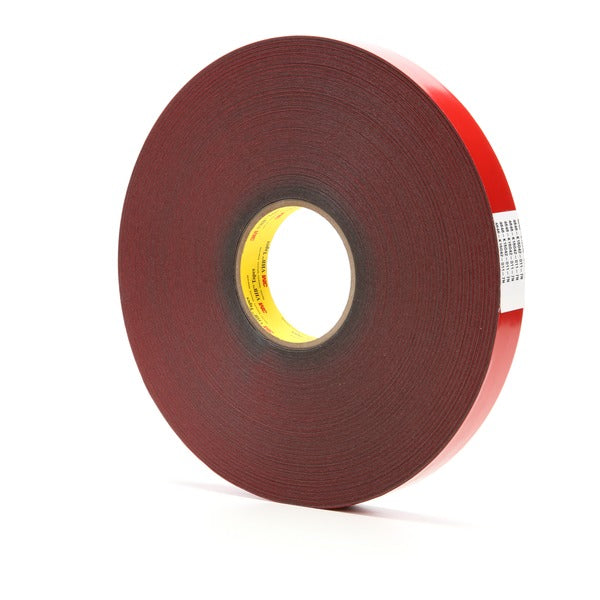 3M™ VHB™ Tape 4646, Dark Gray, 1 in x 72 yd, 25 mil, 9 rolls per case
