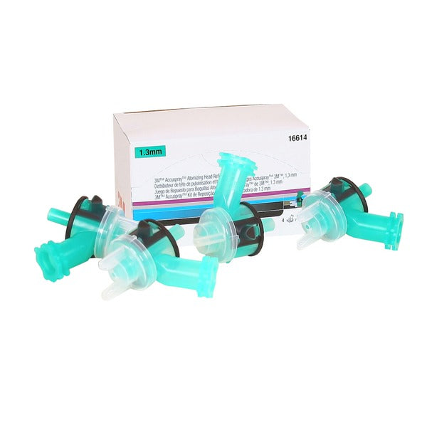 3M™ Accuspray™ Atomizing Head, 16614, Green, 1.3 mm, 4 per kit, 6 kits per case