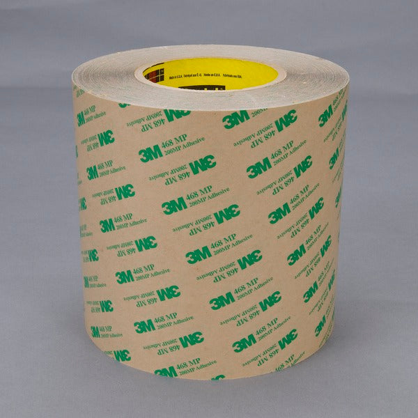 3M™ Adhesive Transfer Tape 468MP, Clear, 13 1/2 in x 180 yd, 5 mil, 1 roll per case