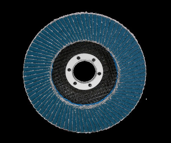 3M™ Flap Disc 566A, T27 Quick Change, Giant 7 in x 5/8-11, 80 YF-weight, 5 per case
