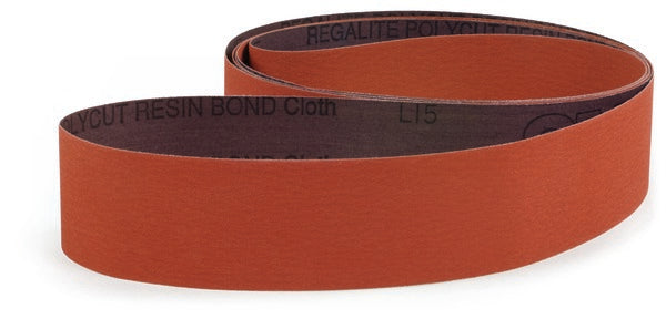 3M™ Cloth Belt 707E, 80 JE-weight, 3 in x 135 in, Film-lok, Single-flex, Scallop A