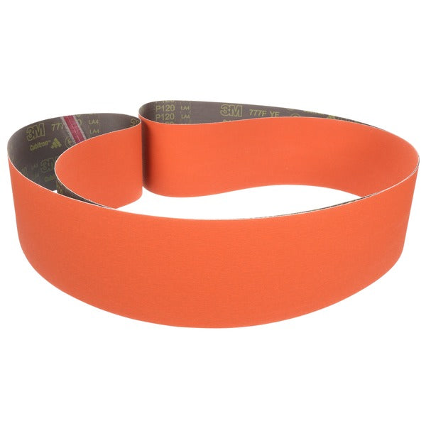 3M™ Cloth Belt 777F, P120 YF-weight, 1 in x 19-1/2 in, Fabri-lok, Single-flex