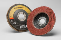 3M™ Cubitron™ II Flap Disc 967A, T27, 4-1/2 in x 7/8 in, 40+ Y-weight, 55605