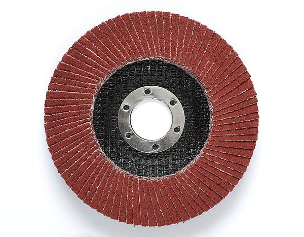 3M™ Cubitron™ II Flap Disc 969F, T27 4-1/2 in x 5/8-11, 80+ YF- weight, Giant, 10 per case