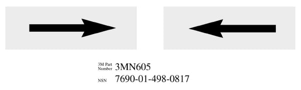 "3M™ Diamond Grade™ Damage Control Pipe Sign 3MN605DG, ""Arrow"", 6 in x 2 in, 50/Package"