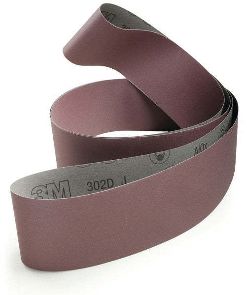3M™ Cloth Belt 302D, P320 J-weight, 4 in x 118 in, Film-lok, Full-flex