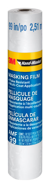 3M™ Hand-Masker™ Advanced Masking Film, AMF99, 99 in x 90 ft x .35 mil (2.51 m x 27.4 m x .00889 mm)