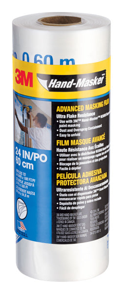 3M™ Hand-Masker™ Advanced Masking Film AMF24, 24 in x 180 ft(0,60 m x 54,8 m ), 1 Roll/Pack