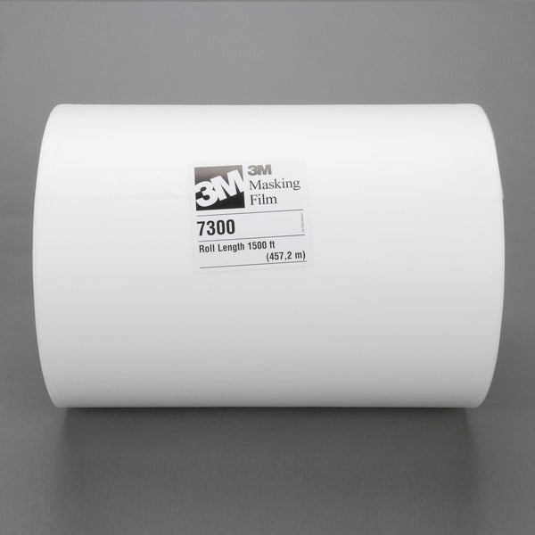 3M™ High Temperature Paint Masking Film 7300, Translucent, 18 in x 1500 ft, 3.4 mil, 2 per case