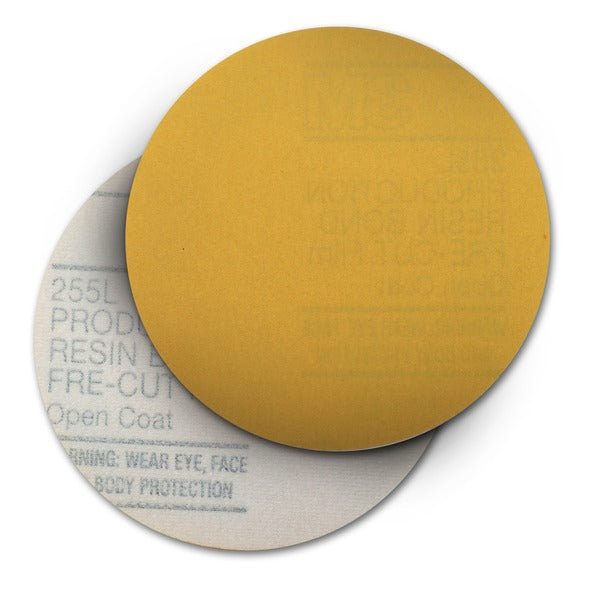 3M™ Hookit™ Gold Film Disc 255L, 00963, P180, 5 in x NH, Die 500X, 100 per inner, 4 per case