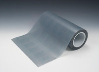 3M™ Microfinishing Film Roll 468L, 100 Mic 3MIL, Type E, Black, 17-1/4 in x 150 ft x 3 in (438.15mmx45.75m), SP, ASO, Unbacksized