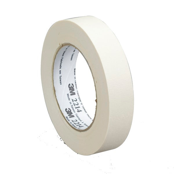 3M™ Paper Masking Tape 2214, Tan, 36 mm x 55 m, 5.4 mil, 24 per case