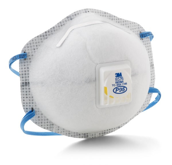 3M™ Particulate Respirator 8576, P95, with Nuisance Level Acid Gas Relief 80 EA/Case