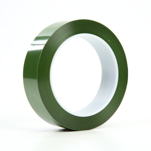 3M™ Polyester Tape 8403, Green, 1 in x 72 yd, 2.4 mil, 36 rolls per case