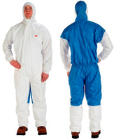 3M™ Protective Coverall 4535 White & Blue Type 5/6 Size Large 20/case