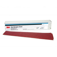 3M™ Red Abrasive Stikit™ Sheet, 01679, P80, 2-3/4 in x 16 1/2 in, 25 sheets per carton, 5 cartons per case