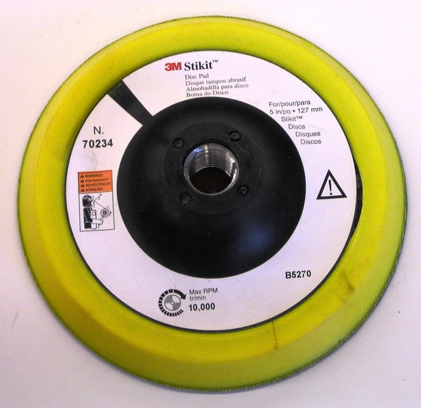 M™ Stikit™ Disc Pad 70234, 5 in x 1/2 in 5/8-11 Interna