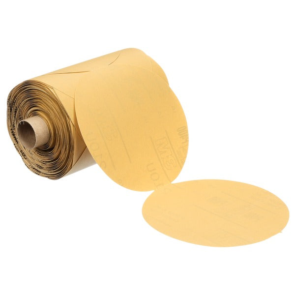 3M™ Stikit™ Paper Disc Roll 210U, P320 A-weight, 5 in x NH, Die 500X, 250 discs per roll, 4 per case