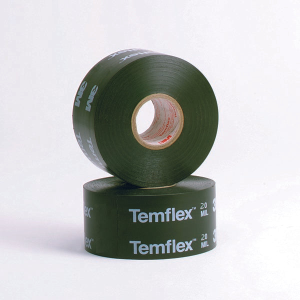 3M™ Temflex™ Vinyl Corrosion Protection Tape 1200, 2 in x 100 ft, Printed, Black, 12 rolls/Case