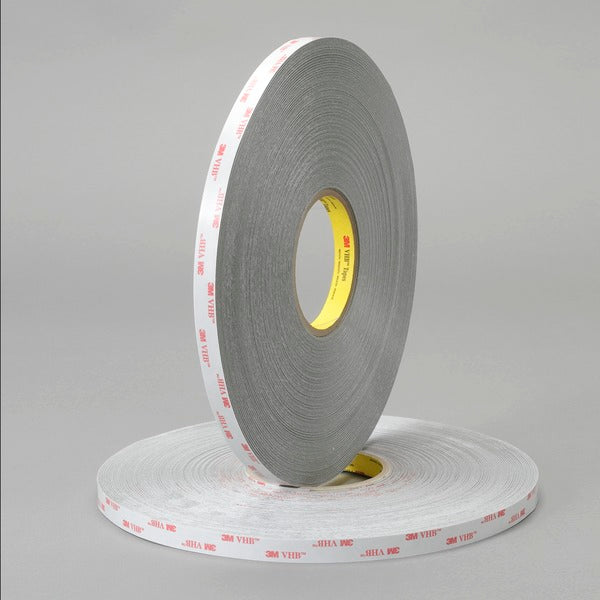 3M™ VHB™ Tape 4936, Gray, 1/2 in x 72 yd, 25 mil, 18 rolls per case