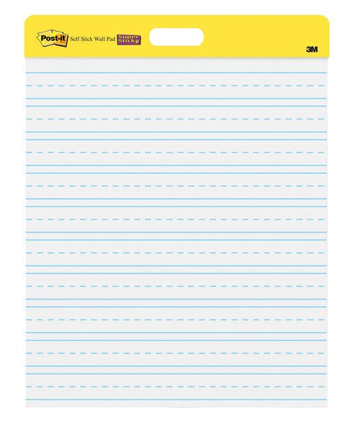 Post-it® Self-Stick Wall Pad 566PRL, 20 in x 23 in (50,8 cm x 58,4 cm) Primary Ruled