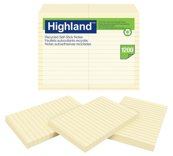 Highland™ Notes 6559, 3 in x 5 in (7.62 cm x 12.7 cm)