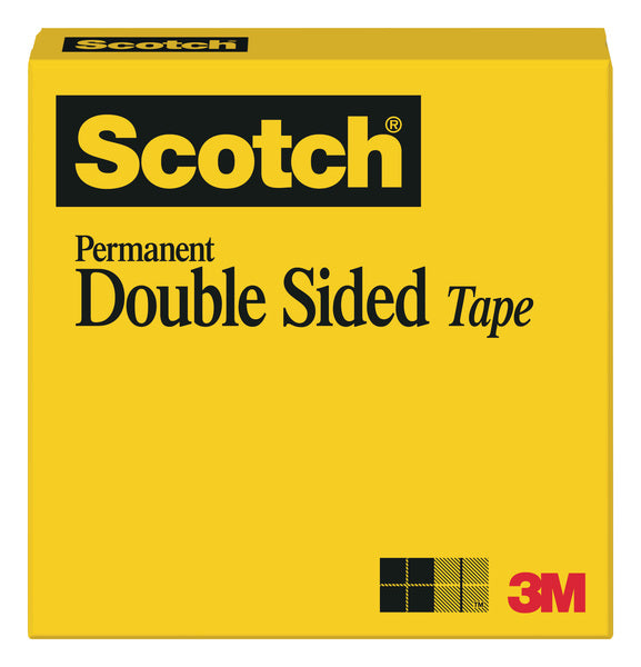 Scotch® Double Sided Tape 665, 1 in x 1296 in Boxed