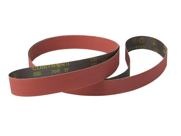 3M™ Cubitron™ ll Cloth Belt 784F, 36+ YF-weight, 64 in x 103 in, Film-lok, L-flex