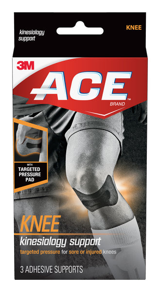 ACE™ Kinesiology Knee Support 900139, 1.73 in x 3.23 in (44 mm x 82 mm)