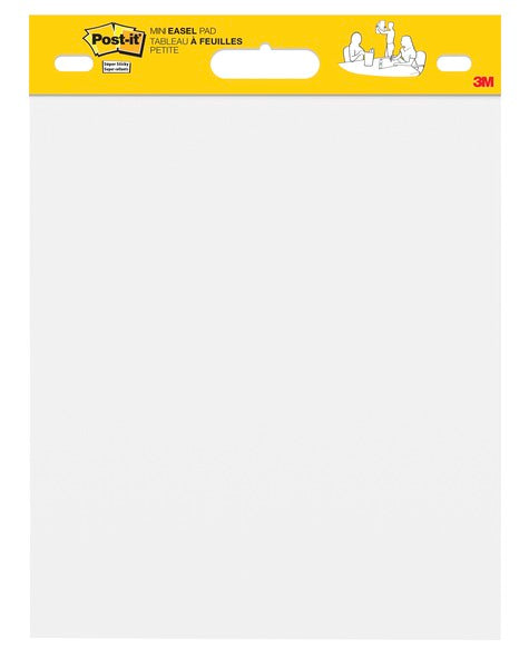 Post-it® Super Sticky Mini Easel Pad 577SS, 15 in. x 18 in.,  White Premium Self Stick Flip Chart Paper