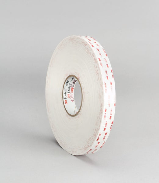 3M™ VHB™ Tape 4930, White, 1/2 in x 72 yd, 25 mil, 4 Rolls / Case