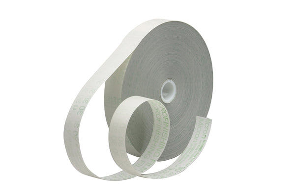 3M™ Microfinishing Film Roll 372L, 60 Mic 5MIL, Type 2, Yellow, 0.984 in x 1200 ft x 1 in (25mmx365.75m), Plastic Core, ASO, ERMB