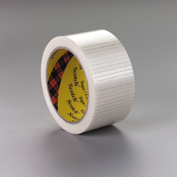 Scotch® Bi-Directional Filament Tape 8959, Clear, 50 mm x 50 m, 5.7 mil, 18 rolls per case