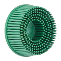Scotch-Brite™ Roloc™ Bristle Disc, RD-ZB, 50, TR, Green, 2 in x 5/8 in, Tapered, 10 per inner, 40 per case