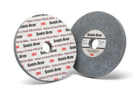 Scotch-Brite™ Deburr and Finish PRO Unitized Wheel, 3 in x 1/4 in x 1/4 in 6C MED+, 40 per case