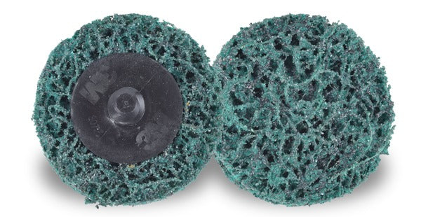 Scotch-Brite™ Roloc™ Clean and Strip XT Pro Extra Cut Disc, XC-DR, A/O Extra Coarse, TR, Green, 2 in, 10/inner, 60/case