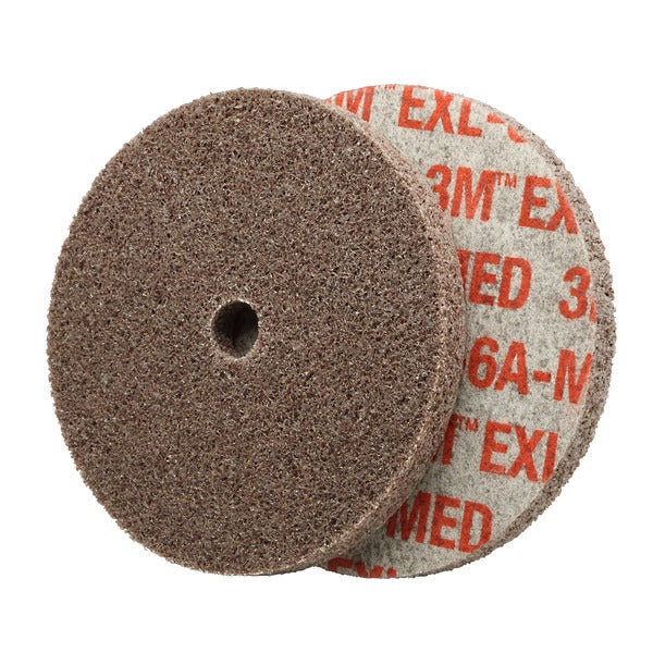 Scotch-Brite™ EXL Unitized Wheel, XL-UW, 6A Medium, 1-1/2 in x 1/4 in x 1/8 in, 80 per case