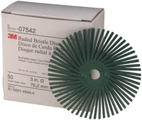 Scotch-Brite™ Radial Bristle Disc, 3 in x 3/8 in, 50, 40 per case