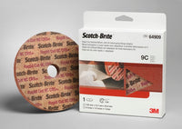 Scotch-Brite™ Rapid Cut Unitized Wheel, 6 in x 1/2 in x 1 in 9C CRS+ with #5 telescoping flange adaptor, 5 per case