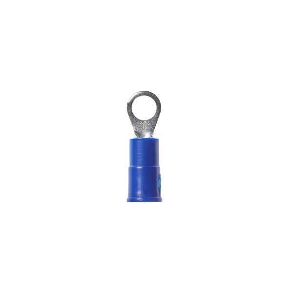 3M™ Scotchlok™ Ring Vinyl Insulated, 100/bottle, MVU14-8R/SX, standard-style ring tongue fits around the stud, 500/Case