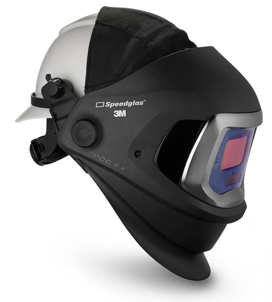 3M™ Speedglas™ 9100 FX Welding Helmet 06-0600-10HHSW, with Hard Hat, SideWindows and ADF 9100V, 1 EA/Case