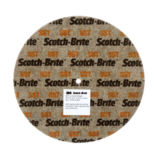 Scotch-Brite™ SST Unitized Wheel, 6 in x 1 in x 1 in 7S FIN, 2 per case