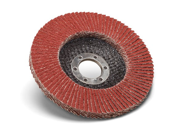 Standard Abrasives™ Ceramic Pro Type 27 Flap Disc, 645104, 4-1/2 in x 5/8-11 80 Y-weight, 10 per case